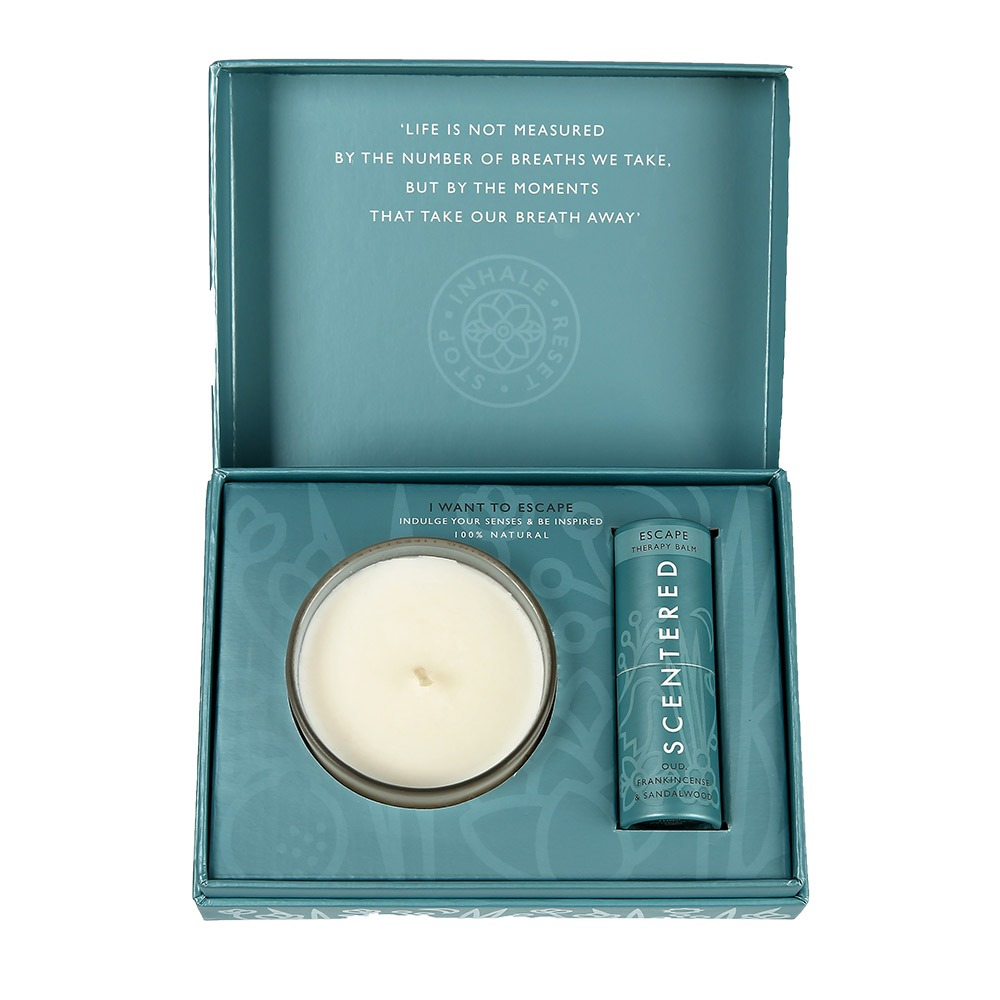 Scentered Escape Balm And Candle Set